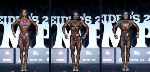 Результаты Figure Olympia 2018: Candice Lewis Carter, Cydney Gillon, Nadia Wyatt